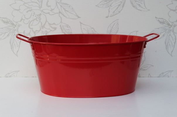Red Oval Tub