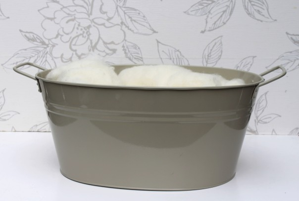 French Grey Oval Tub